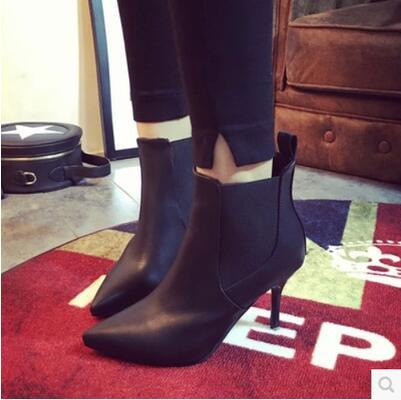 New arrival autumn winter sexy pointed high heel martin boot