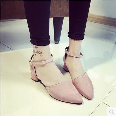 New arrival European style sexy hollow pointed low heel sandal