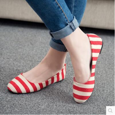 New arrival famous stripe Korea version fashion bean sandal