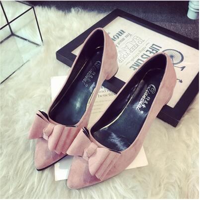 New arrival Korea version sweet rosette pointed sandal