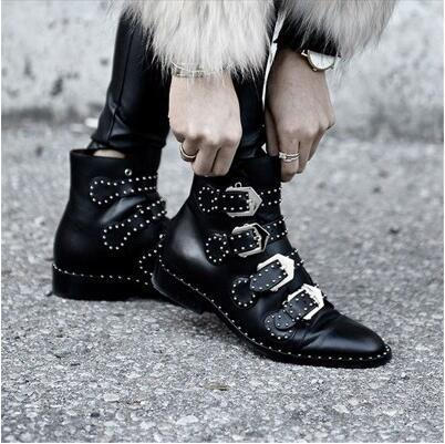 New arrival Leather rivets fashion casual retro Motorcycle boots
