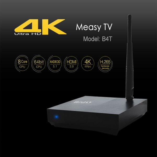 New Arrival Measy RK3368 Octa Core 64Bit TV Box Cortex A53 Android 5.1