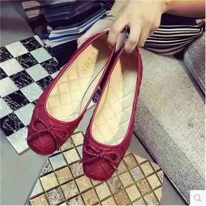 New arrival rosette square head enamel leather flat sandal