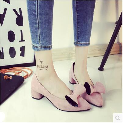 New arrival spring autumn pointed thick heel rosette sandal