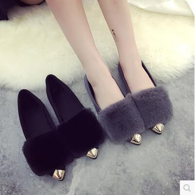 New arrival wild-clothing Korea version pointed fur sandal