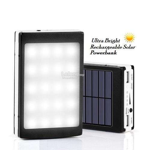 [ New Arrivals] Ultra Bright Rechargeable 20000mAh Solar Powerbank