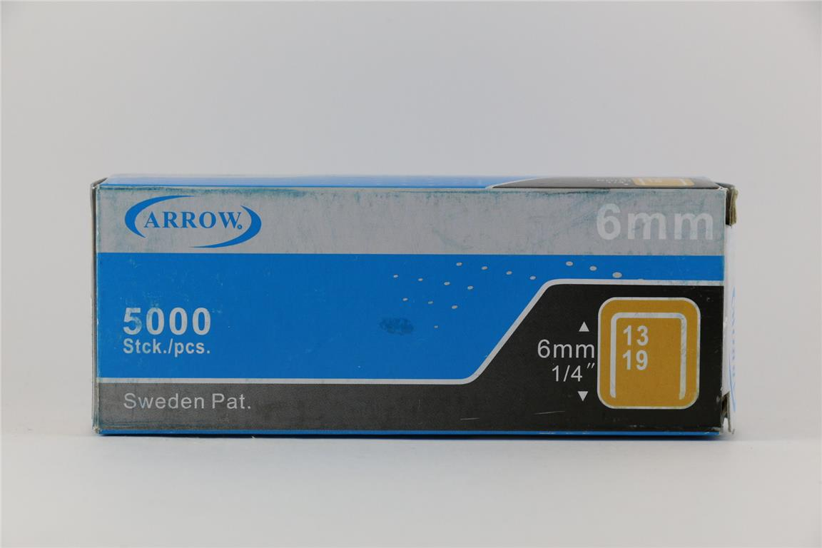 Arrow Staples Refill 13/6 6mm