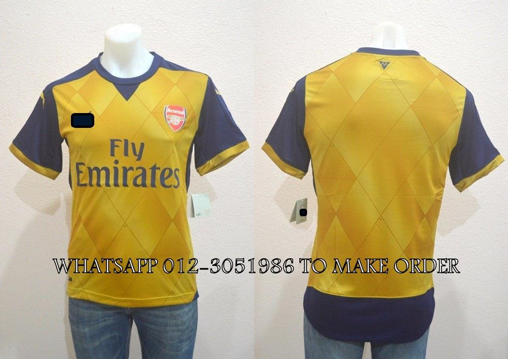 Arsenal Away 2015/2016 Jersey/Jersi