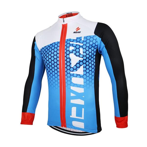 ARSUXEO Men's Cycling Jersey Bike Bicycle Long Sleeves MTB Jersey