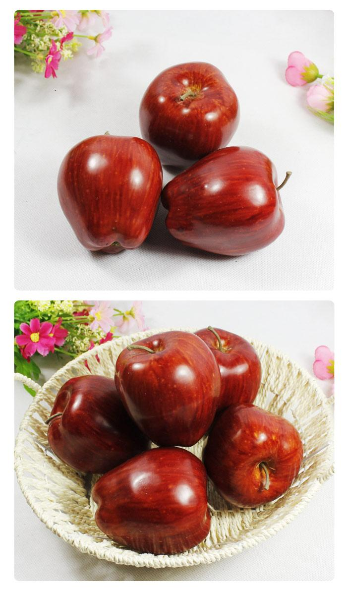 Artificial fruits apple red delici end 8 1 2017 12 00 am for Apple fruit decoration
