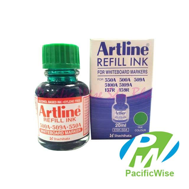 Artline Whiteboard Marker Refill Ink (Green) 20ml
