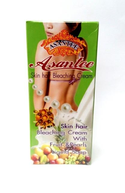 ASANTEE SKIN HAIR BLEACHING CREAM WITH FRUITS AND PEARLS EXTRACT