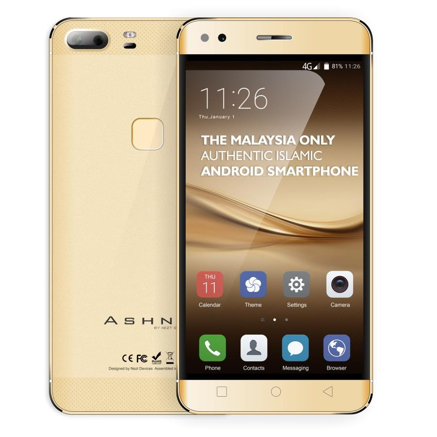 Ashna A9 - FINGR PRINT - 2GB+8GB - 5.5 inch - (GOLD)  1 year Warranty