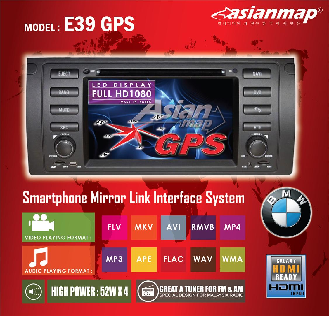 ASIAN MAP BMW E39, M5, X5, E53 DVD WITH GPS OEM PLAYER