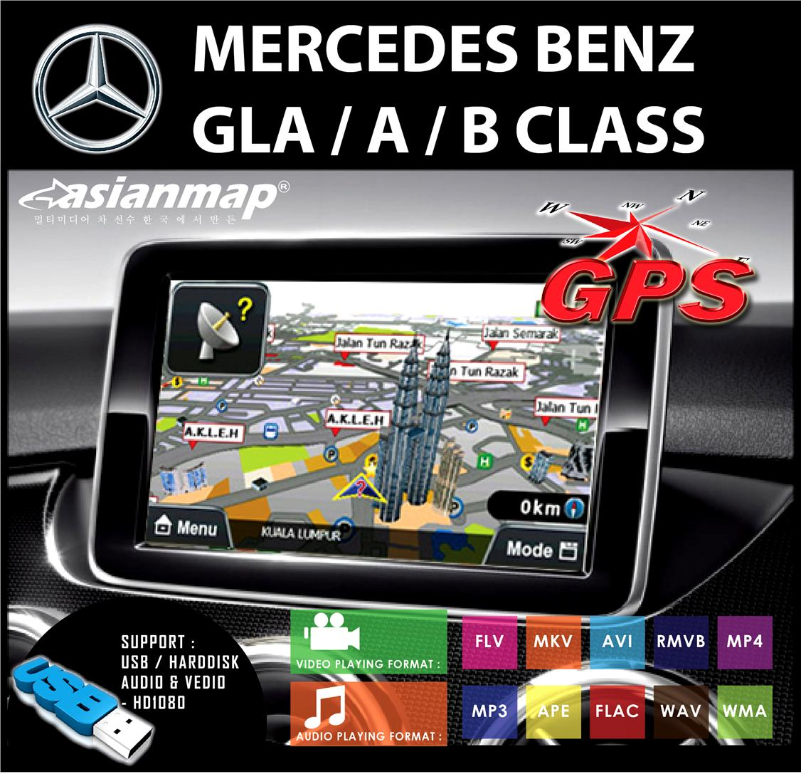ASIAN MAP GLA/A/B CLASS 8' CAPACITY TOUCH SCREEN & MULTIMEDIA WITH GPS