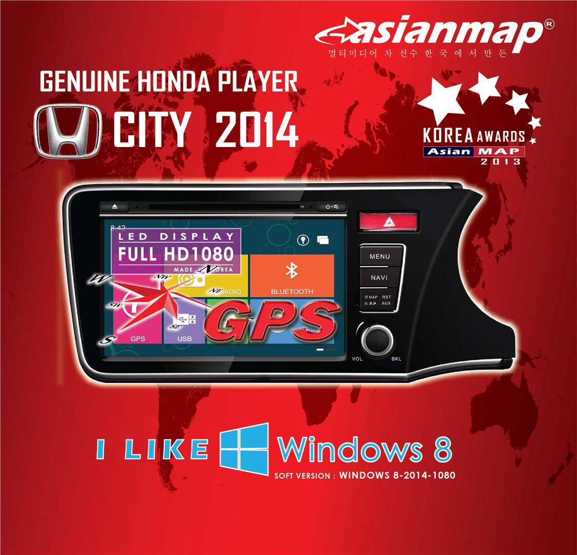 ASIAN MAP HONDA CITY 13-15 9' WIN8 OEM DVD GPS PLAYER