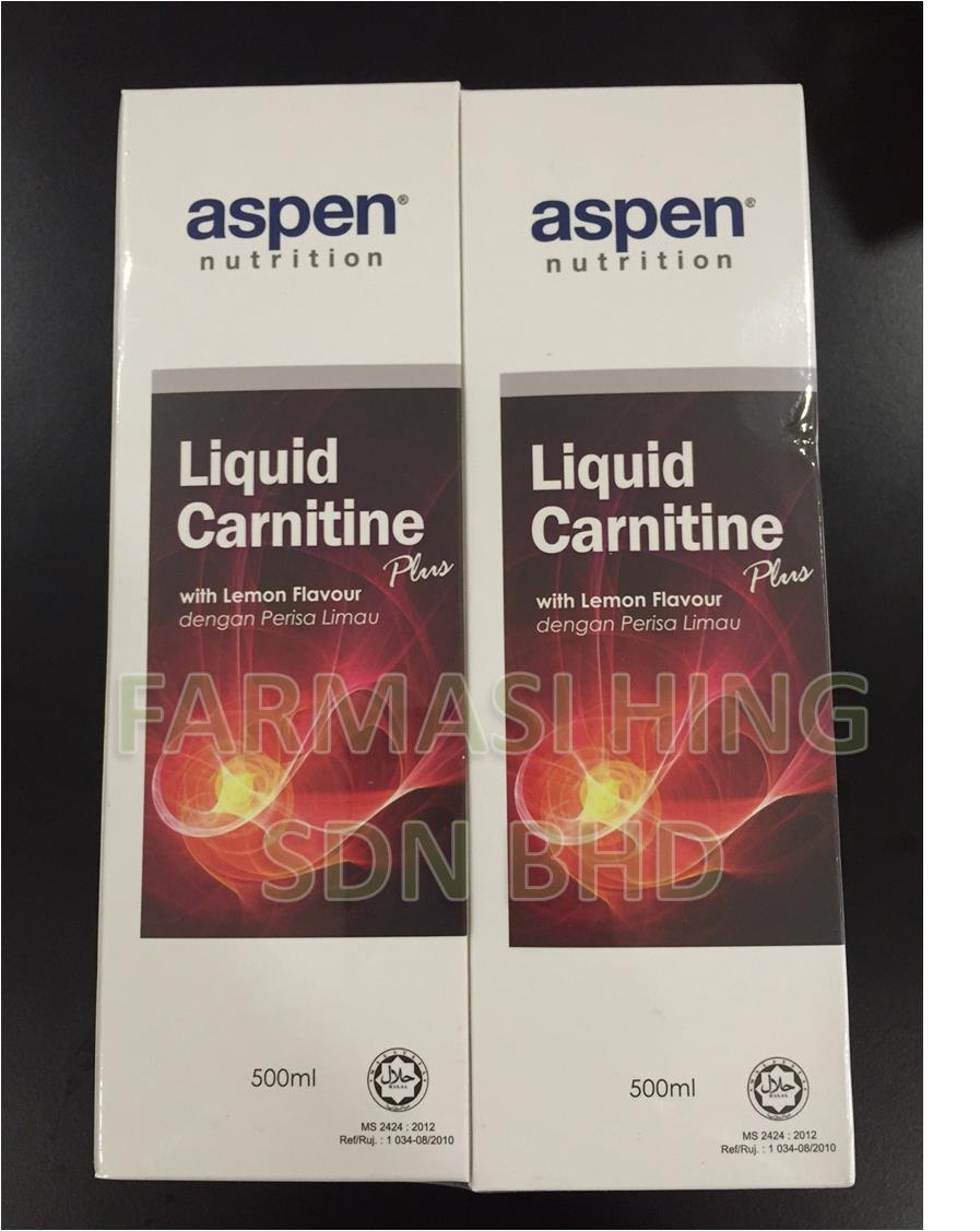 Aspen L-Carnitine PLUS (LEMON FLAVOUR) (2x500ML) BURN FAT GYM