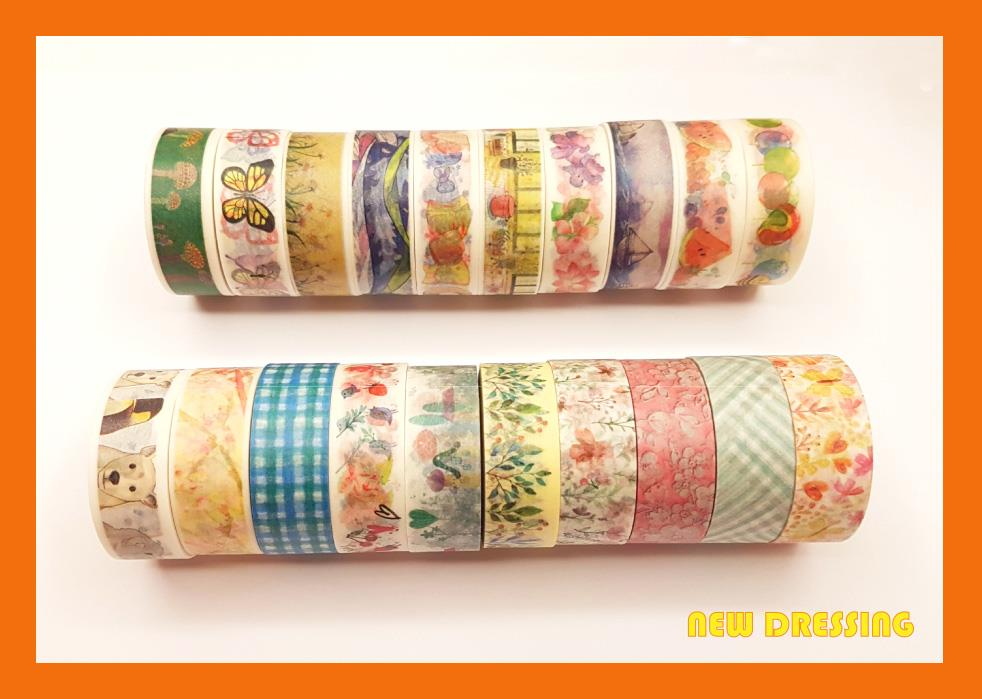 Assorted Pattern Washi Tape (10 Rolls) V2 - Zakka/Diary/Photobook DIY