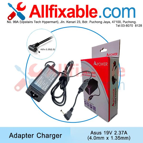 Asus 19v 2.37a (4.0x1.35) VivoBook X202 Zenbook BX21 Adapter Charger