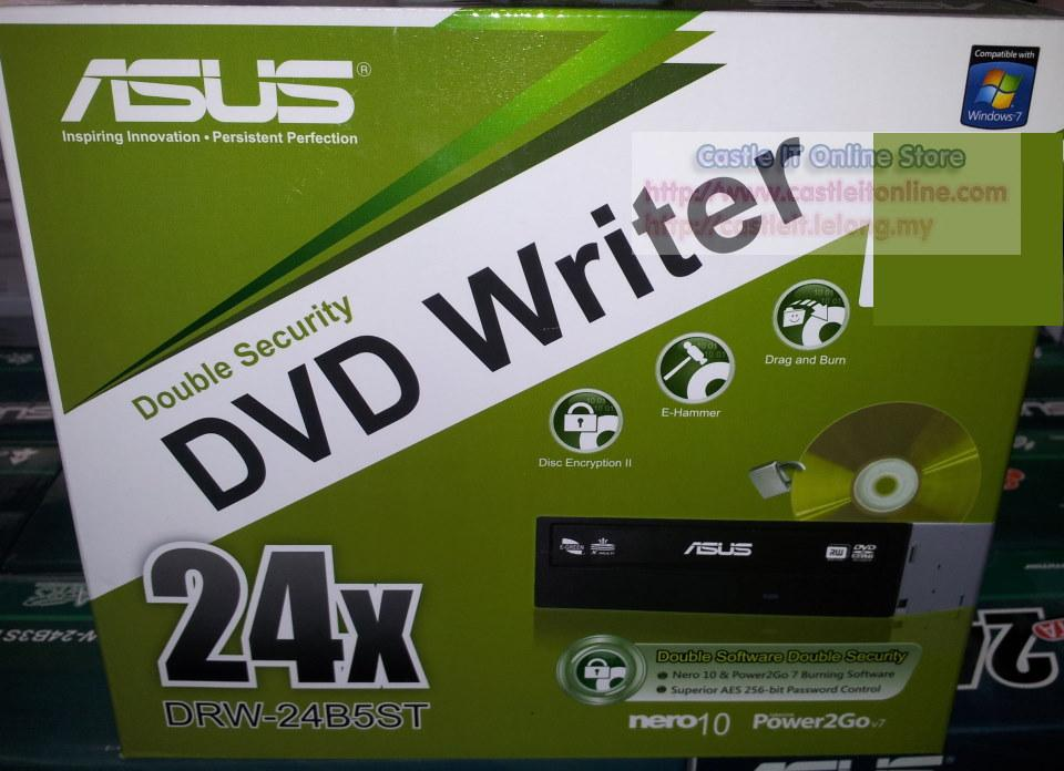 Asus 24x SATA Desktop PC Internal DVD-RW Drive (DRW-24B5ST)
