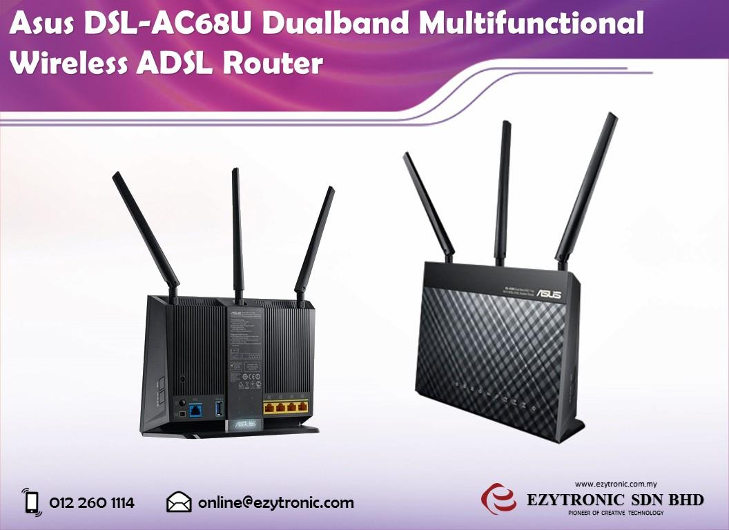 Asus DSL-AC68U Dualband Multifunctional Wireless ADSL Router