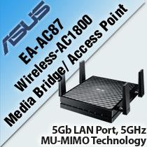ASUS EA-AC87 WIRELESS-AC1800 MEDIA BRIDGE/ ACCESS POINT
