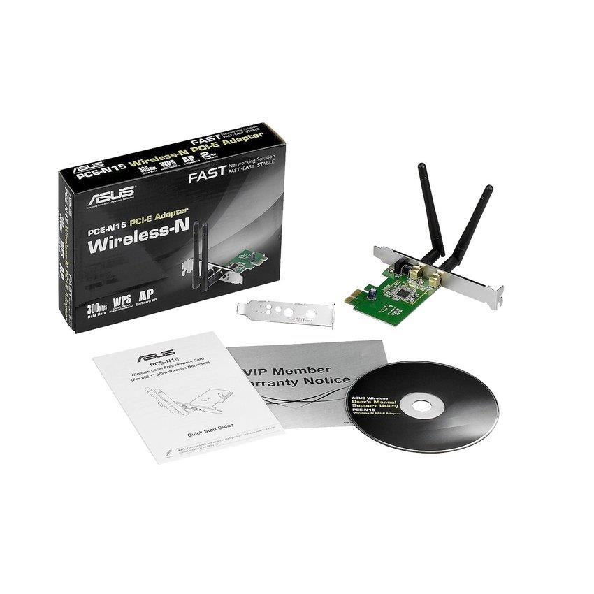 Asus PCE-N15 Wireless N150 PCI-E Adapter