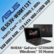 "ASUS ROG GL553V-WDM113T 15.6"" GAMING LAPTOP/ NOTEBOOK"