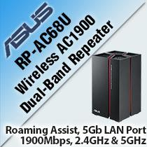 ASUS RP-AC68U WIRELESS AC1900 DUAL-BAND REPEATER