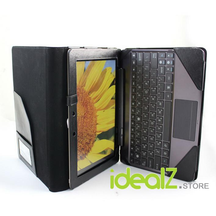 ASUS Transformer Prime TF201 Detachable Keyboard PU Leather Case/Cover -Black