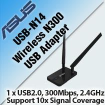 ASUS USB-N14 WIRELESS-N300 USB ADAPTER