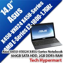 ASUS X45U-VX024 X45U-SERIES 14' NOTEBOOK