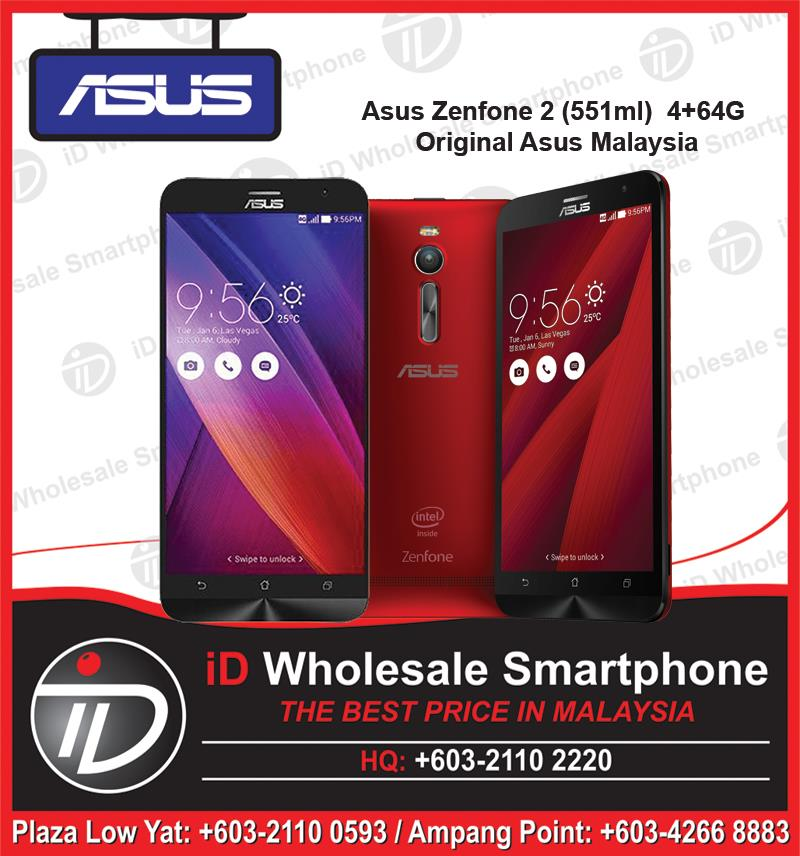 Asus Zenfone 2 ZE551ML (4GB/64GB) 2.3GHZ Original Asus Malaysia Set