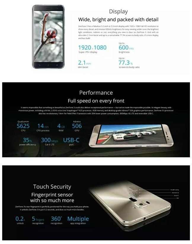 Asus Zenfone 3 5.5 [ZE552KL] from Asus Malaysia