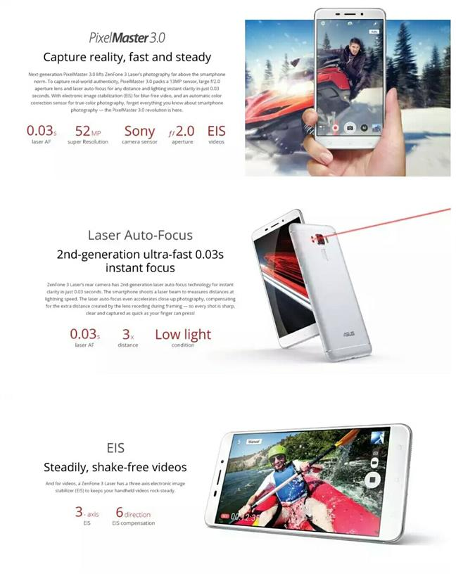 Asus Zenfone 3 Laser [ZC551KL] from Asus Malaysia + Free Gift