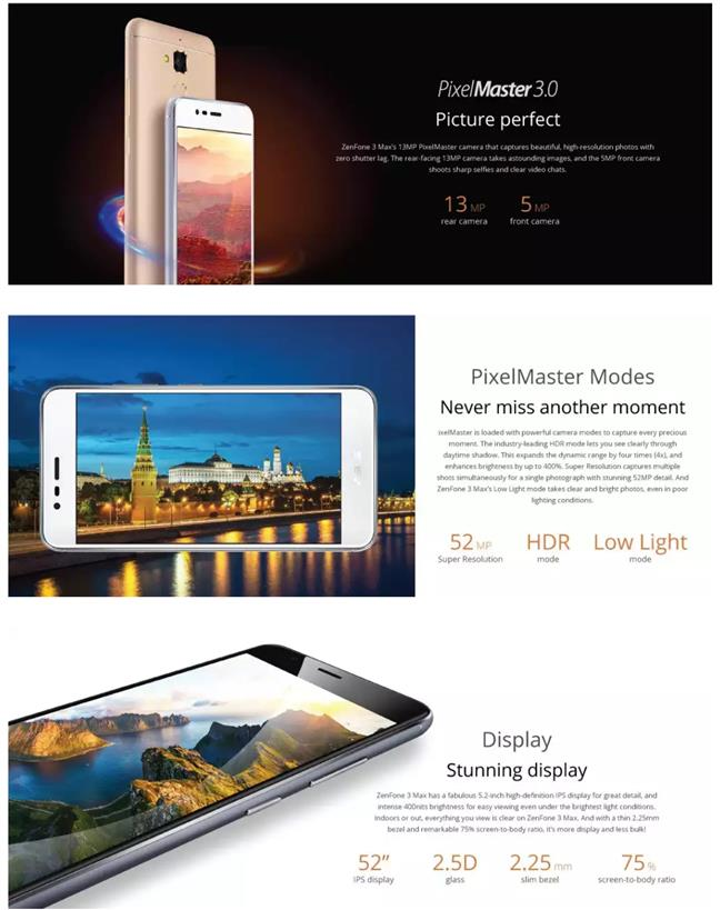 Asus Zenfone 3 Max [ZC520TL] from Asus Malaysia + Bluetooth Headset