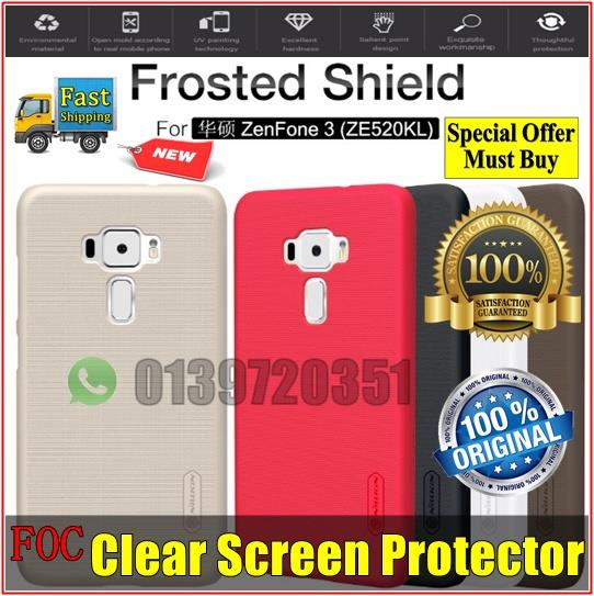 Asus Zenfone 3 ZE520KL Nillkin Frosted Shield Hard Back Cover Casing