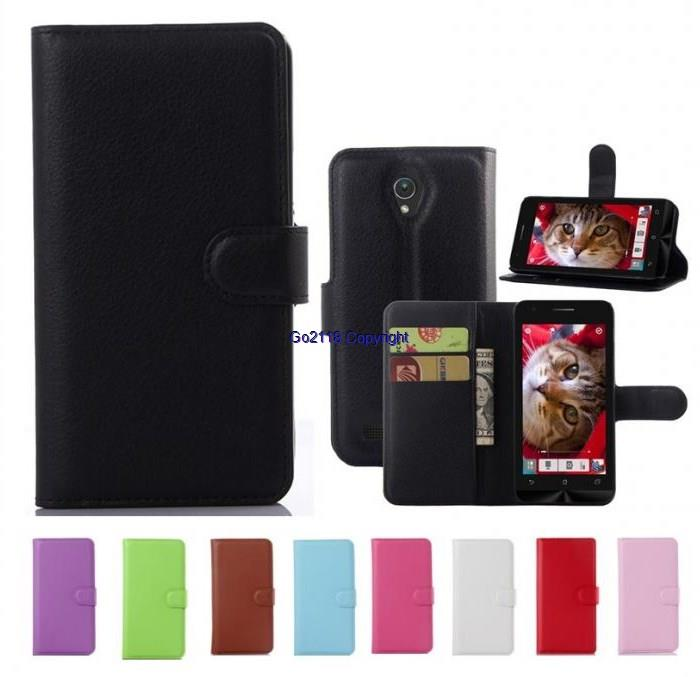 Asus Zenfone GO ZC451CG Card Holder SPU Leather Flip Case Cover Casing