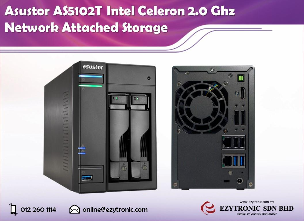 Asustor AS5102T Intel Celeron 2.0 Ghz Network Attached Storage
