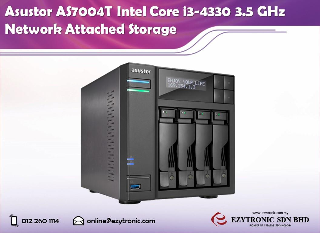 Asustor AS7004T Intel Core i3-4330 3.5 GHz Network Attached Storage