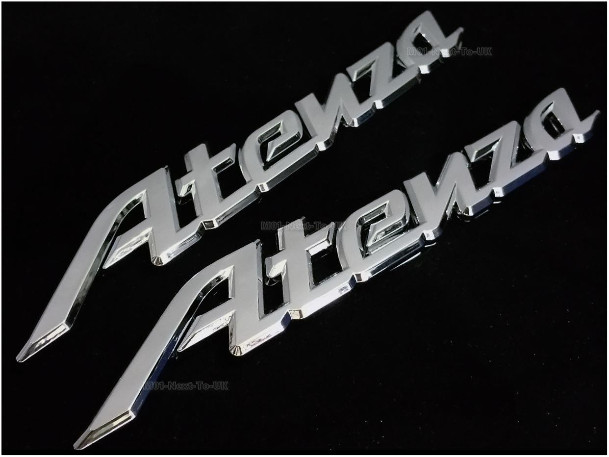 Atenza Chrome Badge Emblem Logo Fender Chromed 3D Car Auto Sw GBK-BWK