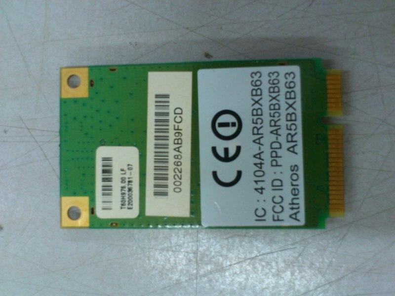 Atheros AR5BXB63 PCI-E Wireless Card for Notebook Acer 2920 200713
