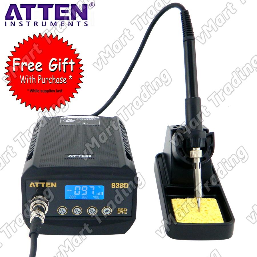 ATTEN AT938D Precision Digital 936 Soldering Station + FREE GIFTS