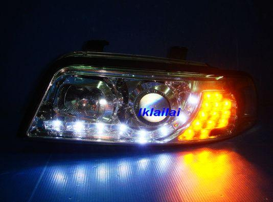 AUDI A4 B6 '01-03 8E Projector Head Lamp + LED Corner Lamp [R8 Look]