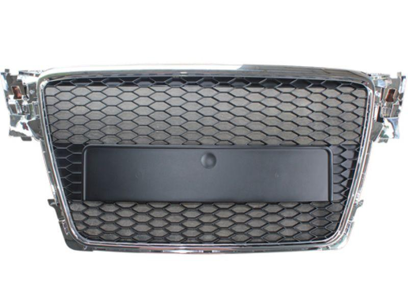 Audi A4 B8 '08 Front Grille RS Style Chrome-Black