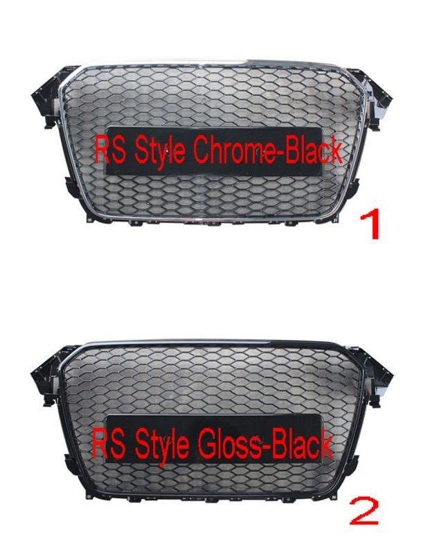 Audi A4 B8 '12 Front Grille RS Style Chrome-Black / Gloss-Black