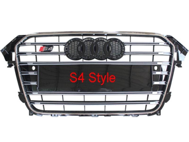 Audi  A4 B8 '12 Front Grille S4 Style