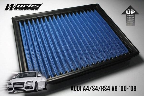 AUDI A4/ S4/ RS4 B6 B7 L4/ V8 2000 - 2008 WORKS ENGINEERING Air Filter
