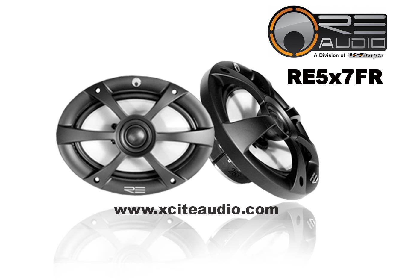 RE Audio RE5x7FR 125W 2-Way Coaxial Car Speakers