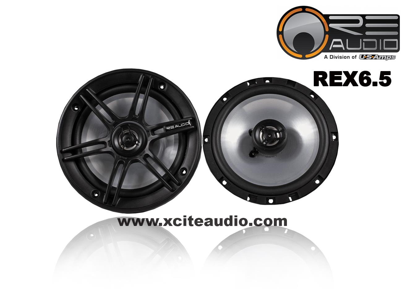 RE Audio REX6.5 6.5inch 125W 2-Way Coaxial Car Speakers